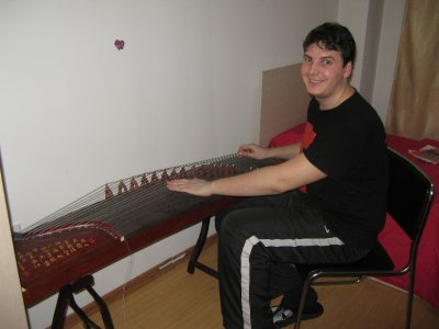 Playing guzheng