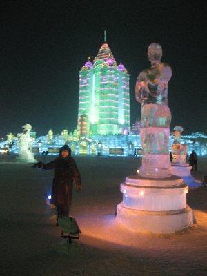 Oscar Ice Statue