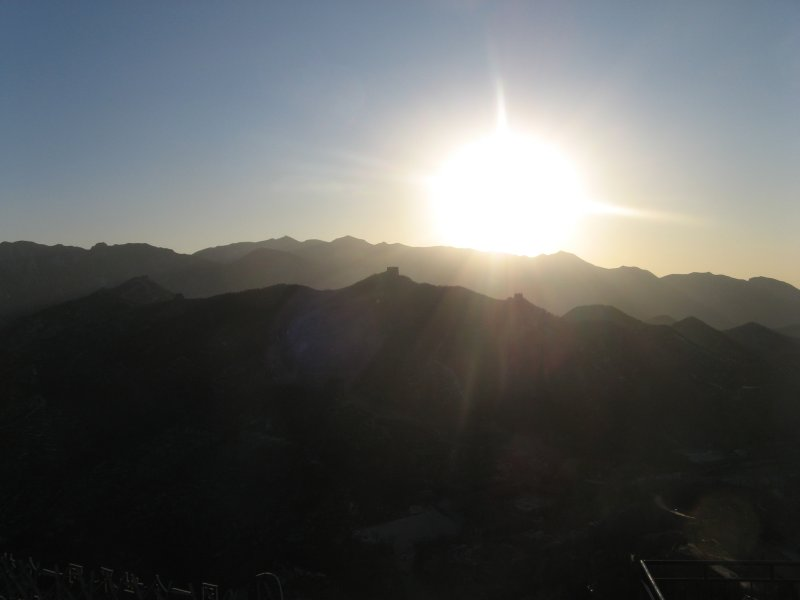 Sunset over Great Wall