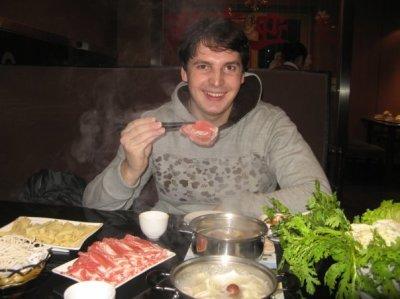 Eating raw meet