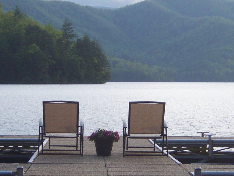 Seating for Two on Lake Santeetlah