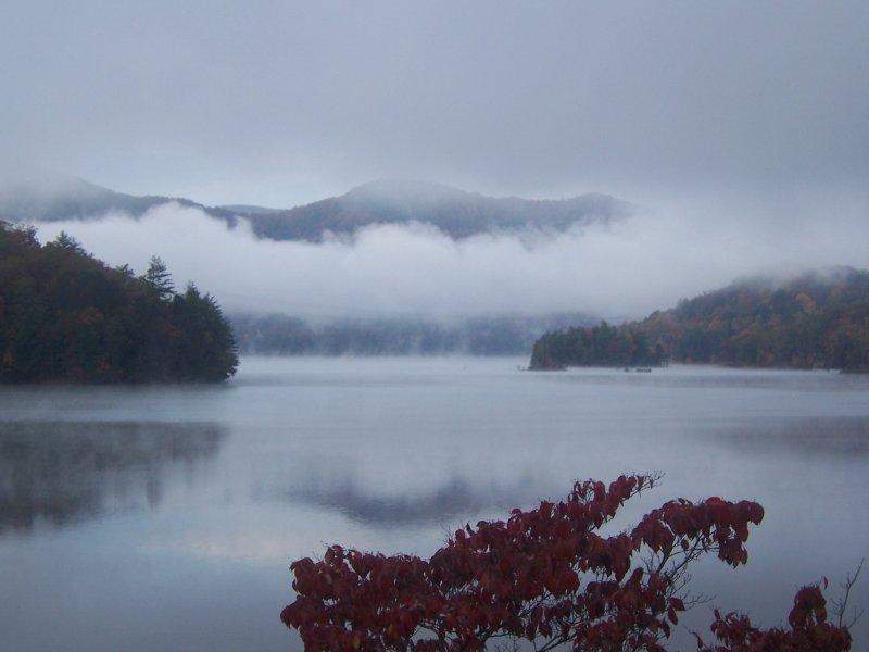 Fog on Lake Santeetlah