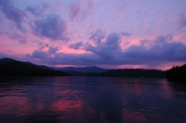 Sunset Lake Santeetlah