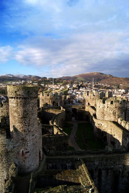 Looking Down on Castell Conwy