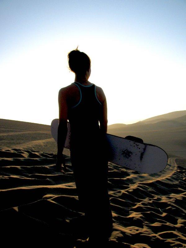 Sunset Sandboarding