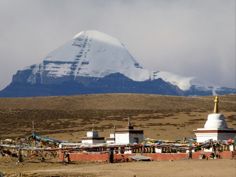 Mt. Kailash from Chieuw Monastery, western Tibet