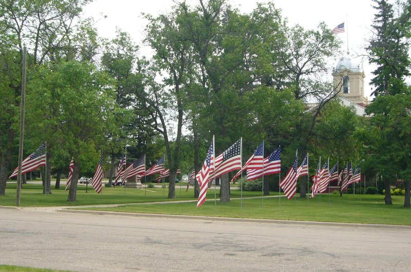 Memorial Day Flags Kingsbury County Courthouse De Smet SD