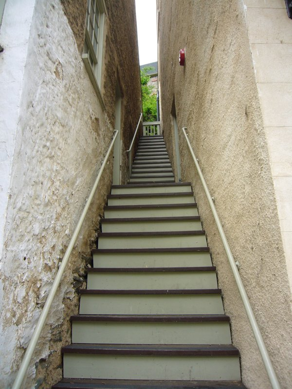 Stairs to the upper part of the town of Harpers Ferry WV