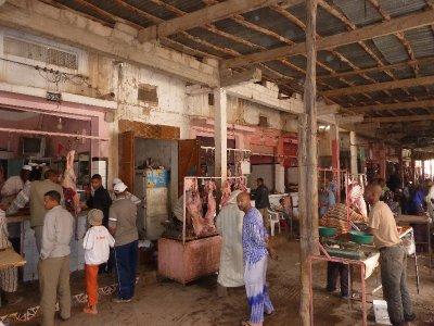 Fresh meat at Rissani Market
