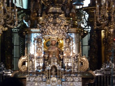 The ornate altar piece