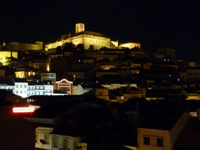 Night view of Coimbra