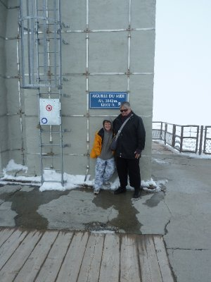 On the Aguille du Midi