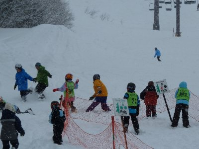 Warm up for ski school - hunt the instructor