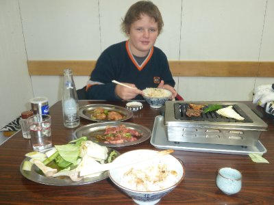In the favourite yakiniku restaurant