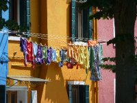 Even the washing is colourful in Burano