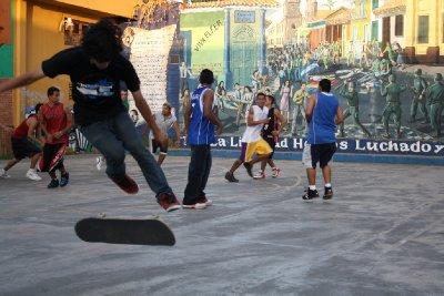 Skateboard in León