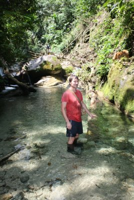 Me posing up in the river