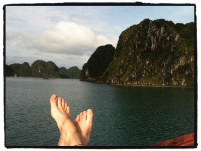 Happy Feet in Ha Long Bay