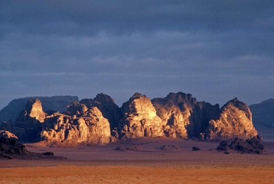 sunrise at Wadi Rum