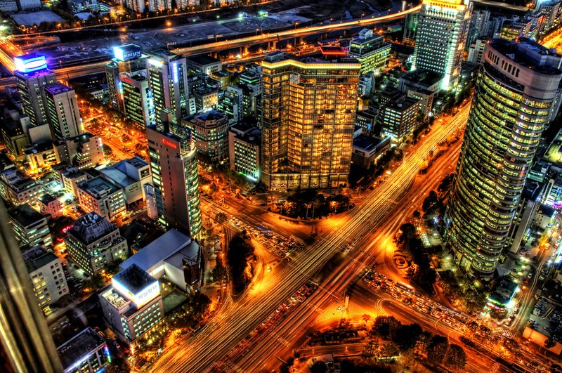 City shot of Seoul, S. Korea