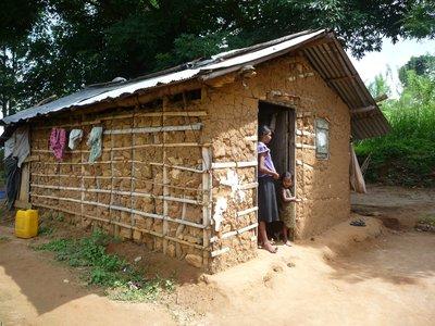 Mud hut in Tamil hill village