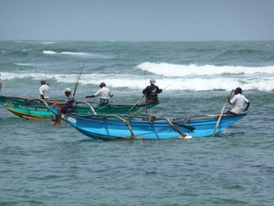 Boat men Unawatuna Beach