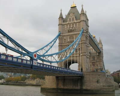 Tower Bridge from Shad Thames (south bank)