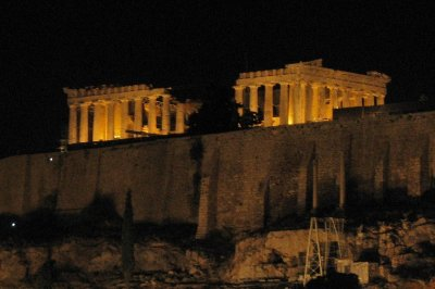 Parthenon from our hotel rooftop bar