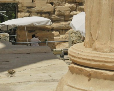 Working on the Erechtheion restoration