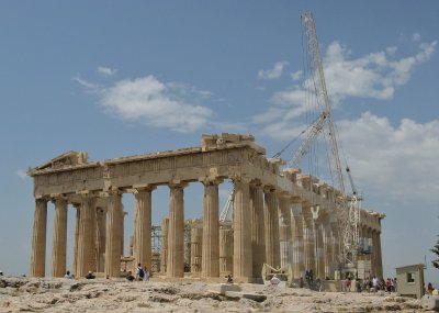 Parthenon under reconstruction