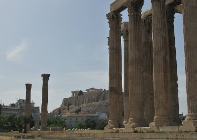 Temple of Olympian Zeus with Acropolis beyond
