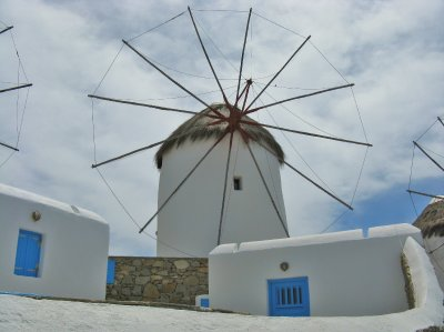 One of 16 windmills on the island