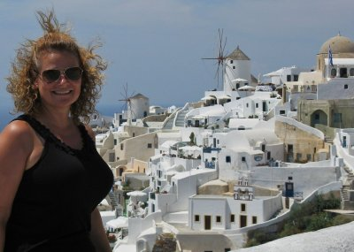 Breezy view over Oia