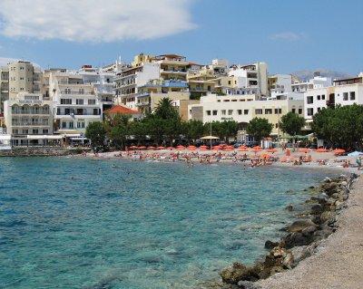 Main beach, Agios Nikolaos, Crete
