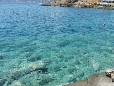 Crystal clear Elounda Bay