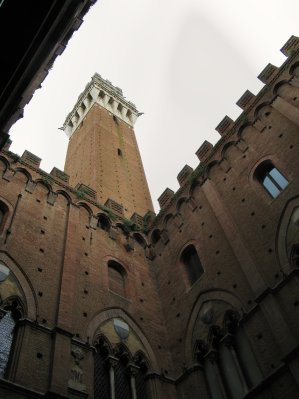 Torre del Mangia from inside Palazzo Pubblico