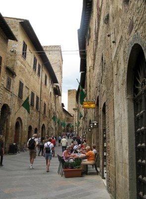 San Gimignano 'main street'