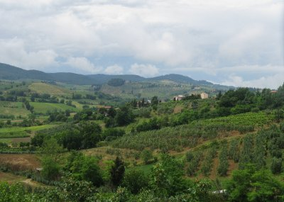 Tuscan landscape from San Gimignano