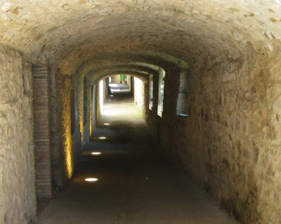 Via delle Volte (covered back street) in Castellina