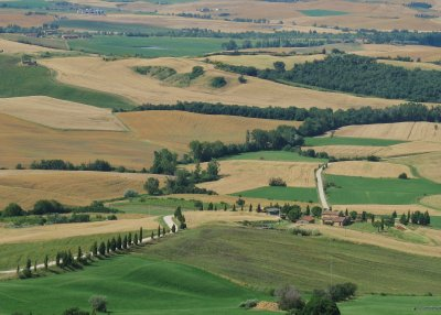 View over the Val D'Orcia from Pienza