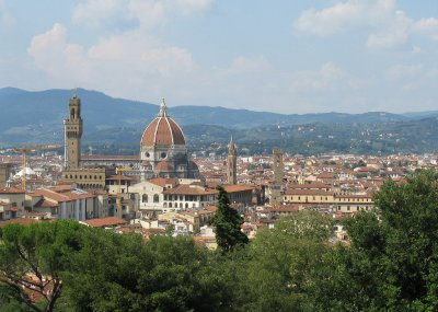 Florence view northwest from Bardini gardens