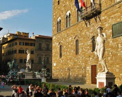 Front of Palazzo Vecchio in Piazza della Signoria