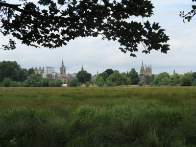 Oxford across Christ Church Meadow