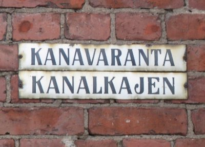 Street signs in Finnish and Swedish