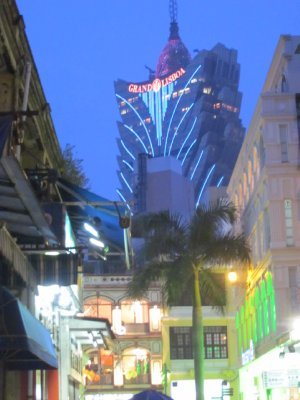 The tourist streets were bright and beautiful once night enveloped the city.