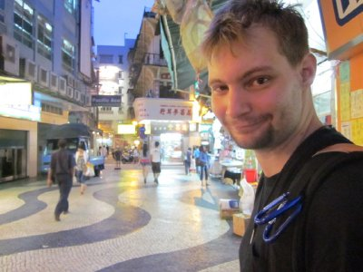 Jake, while roaming the streets of Macau.