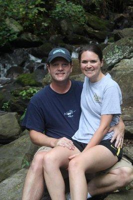 Hiking to Amicalola Falls