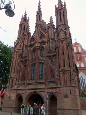 Brick church in Vilnius