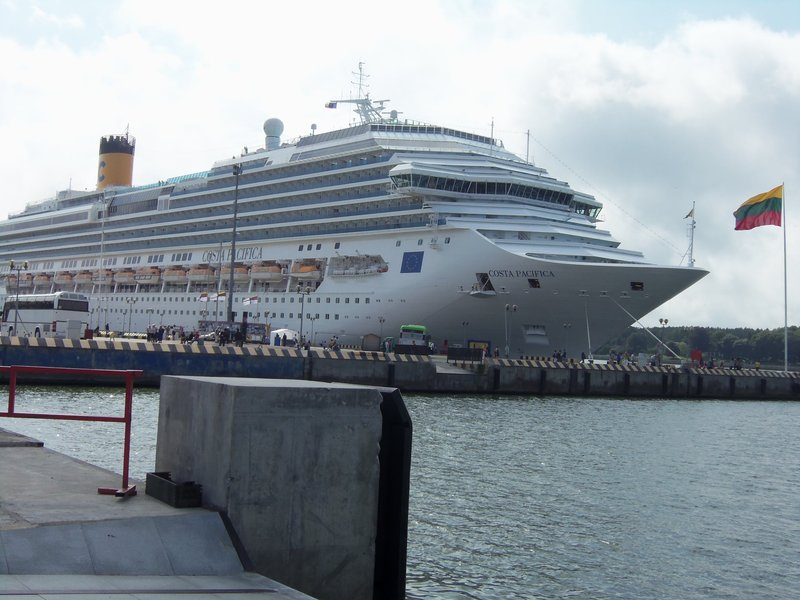 Cruise ship at the Klaipeda port