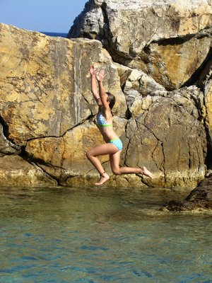 Jumping off Rocks!